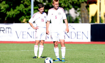 Latvijas U-17 izlases futbolisti piekāpjas lietuviešiem Baltijas kausa izcīņas mačā
