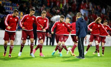 Latvijas futbola izlase turpina savu lejupslīdi pasaules rangā