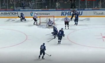 Video: Rīgas 'Dinamo' duelī pret Maskavas 'Dinamo' iegāž pēdējo minūšu noraidījumi