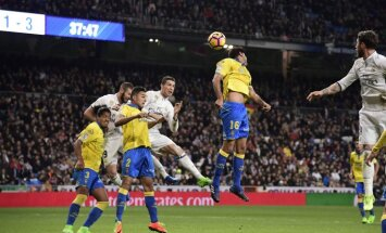 Real Madrid s Portuguese forward Cristiano Ronaldo