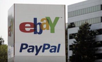'eBay' pārtrauc sadarbību ar 'PayPal'