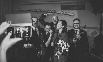 Foto: Šaurā lokā prezentēts Aijas Vītoliņas un 'Tango Sin Quinto' jaunais albums