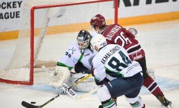 Rīgas 'Dinamo' pēdējās sekundēs atspēlējas un pagarinājumā gūst uzvaru Hantimansijskā