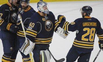Girgensons palīdz 'Sabres' komandai uzveikt izslēgšanas turnīra pretendenti 'Maple Leafs'