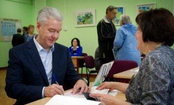 Maskavas mēra vēlēšanās uzvarējis līdzšinējais pilsētas galva, liecina oficiālie rezultāti