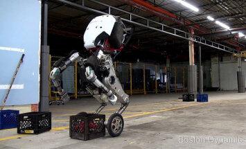 Video: Amerikāņi radījuši braucošu un lēkājošu cilvēcīgo robotu