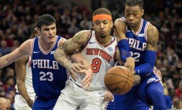Ņujorkas 'Knicks' nespēj izrādīt pretestību Filadelfijas '76ers'