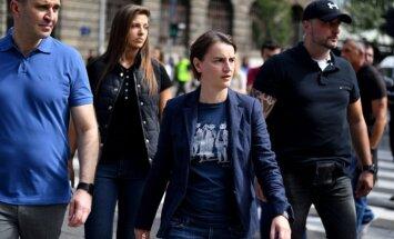Serbijas premjere piedalās Belgradas praidā