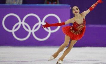 15 gadus vecā daiļslidotāja Zagitova atnes OAR komandai pirmo zelta medaļu Phjončhanā