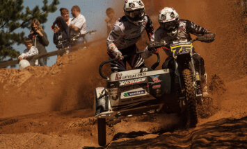 Daiders/Stupelis Gulbenē uzvar Latvijas čempionāta 2. posmā blakusvāģiem