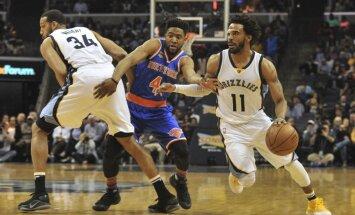 Porziņģis izlaiž trešo spēli pēc kārtas; 'Knicks' zaudē 'Grizzlies' basketbolistiem