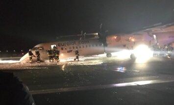 В Варшаве самолет Bombardier успешно сел без переднего шасси