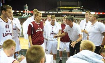Latvijas vīriešu basketbola izlase līdz ar beigu signālu zaudē Gruzijai