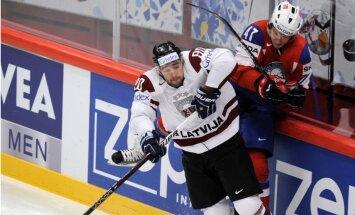 Latvijas hokeja izlase piedzīvo smagu sagrāvi otrajā spēlē ar Norvēģiju