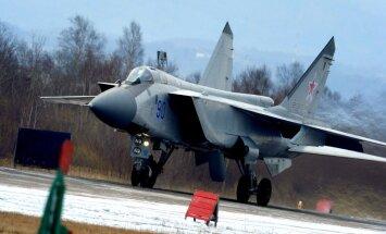 Sibīrijā nogāzies krievu iznīcinātājs 'MiG-31'