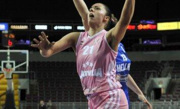 Latvijas basketbolistes trešo reizi apspēlē Grieķijas valstsvienību