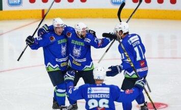 Slovēnijas hokejisti pēcspēles metienos uzvar mājinieci Baltkrieviju un tiek uz olimpiskajām spēlēm