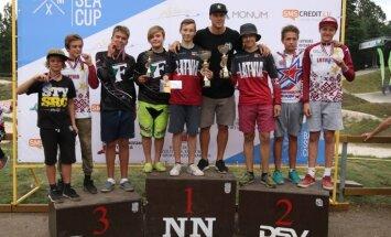 Latvijas sportistiem 14 zelta medaļas Baltijas jūras BMX kausa otrajā posmā