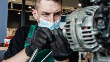 Foto: Noskaidrots labākais Latvijas jaunais automehāniķis