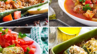 Kabači un maltā gaļa: 15 receptes maltītēm, ar kurām nenošausi greizi