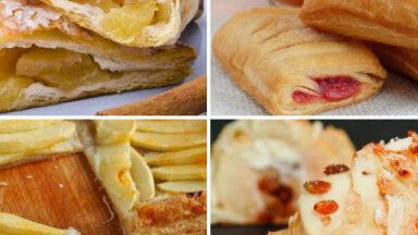 Ideālais pāris – āboli un kārtainā mīkla: 10 elementāras receptes ātriem našķiem