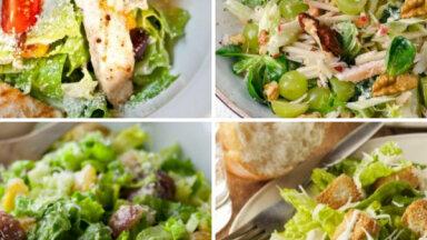 Restorānu klasika mājas gaumē: 11 Cēzara salātu variācijas