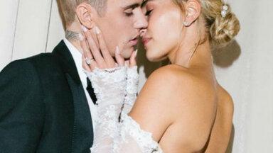 Kāzu foto: Kā tīņu elks Bībers ar mīļoto Heiliju precējās