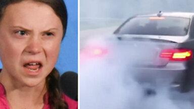Video: Grētai vēstījumu sūta arī jaudīgu BMW īpašnieki Latvijā