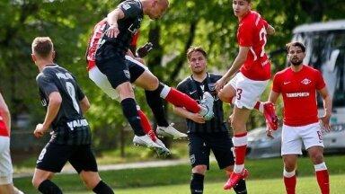 Valmieras un Jūrmalas futbolisti pārbaudes spēlē Igaunijā cīnās neizšķirti