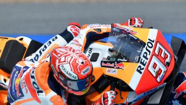 Video: Markess piedzīvo kritienu Taizemes 'MotoGP' treniņā