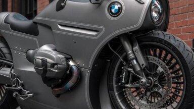 Foto: Krievijas meistaru pārbūvēts BMW motocikls aviācijas stilā