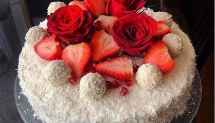 Kārdinošā 'Rafaello' torte kaloriju skaitītājiem