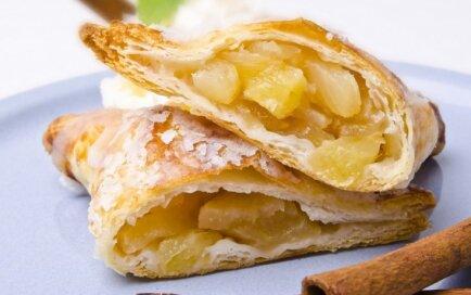 Ātrie kārtainās mīklas ābolu pīrādziņi