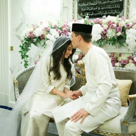 Foto: Kā precējās Džohoras sultāna vienīgā meita