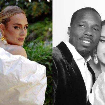 Daiļā Adele publisko pirmo kopbildi ar mīļoto vīrieti Riču Polu
