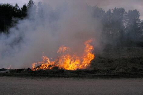 Brīvdienās reģistrēti 49 kūlas ugunsgrēki; Līvānos no ledus nocelts cilvēks