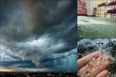 Ригу поглотила тьма: 30 крутых фото и видео пятничной бури, сделанных рижанами