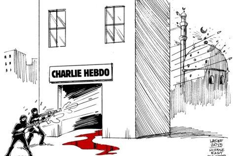Ar emocionāliem komiksiem karikatūristi reaģē uz Parīzes apšaudi