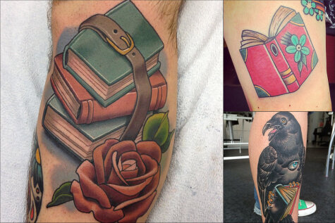 21 удивительно крутая татуировка на тему… книг!