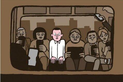 Atgādinājums, ka gudrie telefoni mūs padara par muļķiem