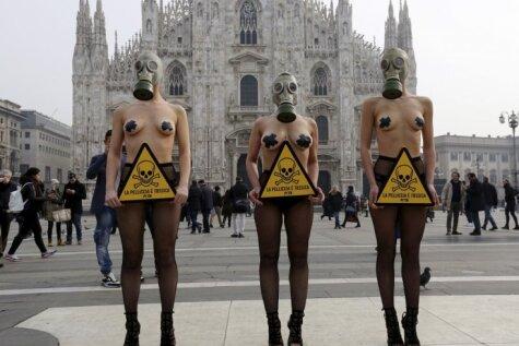 Kārtējais seksīgais protests pret kažokādu ražošanu un lietošanu