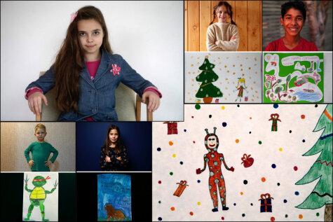 До слёз: Рижанка Дана и еще 38 детей со всего мира нарисовали свои просьбы к Деду Морозу