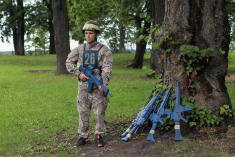 Служба и опасна, и трудна: 120 фото испытаний будущих офицеров латвийской армии