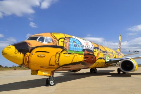 Brazīlijas futbola izlases lidmašīna - īsts mākslas darbs