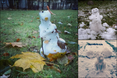 Десять корявых, но милых снеговиков, которых латвийцы уже слепили этой