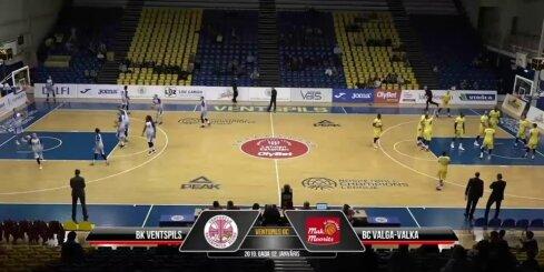 'OlyBet' basketbola līga: 'Ventspils' - 'Valga-Valka/Maks&Moorits'. Spēles labākie momenti