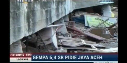 Indonēzijas Ačehas provincē 6,5 magnitūdu zemestrīcē 25 bojāgājušie