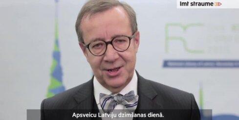 Igaunijas prezidenta sveicieni Latvijas dzimšanas dienā