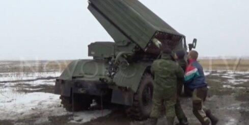 Kā prokrieviskie teroristi apšauda Ukrainas armijas pozīcijas