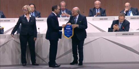 Blaters piekto reizi pēc kārtas tiek ievēlēts par FIFA prezidentu